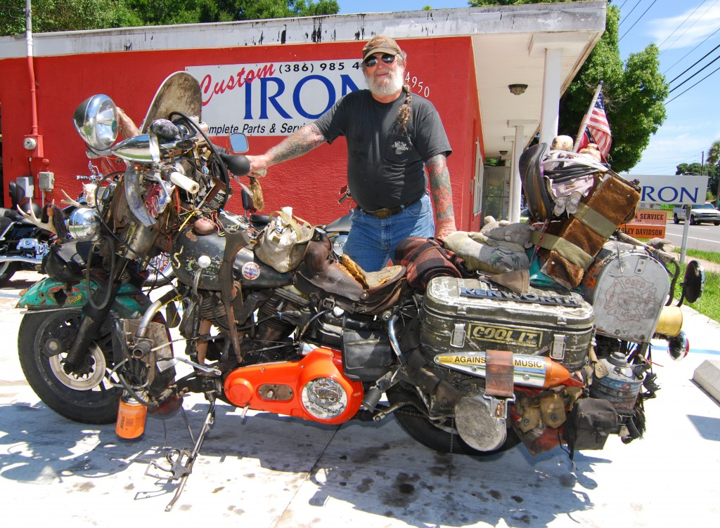 "Andy Anderson and his '62 H-D Panhead ""Rat Bike"""