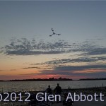 Sunset, Cedar Key (note the radio-control helicopter with camera above us!)
