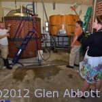 Saw Works Brewing Co. head brewer Dave Ohmer explains the brewing process