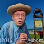 Historical re-enactor Charles Dickson regales visitors with the history of Door County's famous fish boils