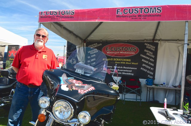 Don Frank of F4 Customs at Daytona Bike Week 2015